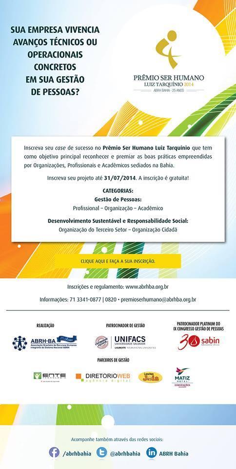 Prêmio Ser Humano Luíz Tarquínio 2014