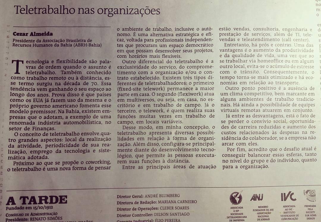 Teletrabalho - Cezar Almeida